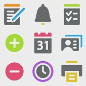 Organizer web icons color icons