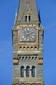 Georgetown University main building clock tower detail - Washington DC - United States