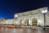 Union Station at night, Washington DC - United States