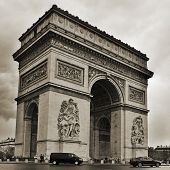PARIS, FRANCE- MAY 16: The Arc de Triomphe on May 16, 2013. Located in the center of the Place Charl