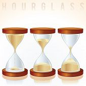 Hourglass. Three Different States. Vector Graphics
