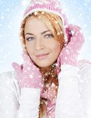 Christmas portrait of young and beautiful girl