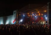 MOSCOW - SEPTEMBER 7: The Brand New Heavies group performs at Usadba Jazz Festival in Kuskovo Mansio