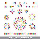 social icons collection - vector concept