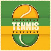 Tennis background in color. Vector illustration.