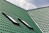 foto of attic  - New green roofing from stainless metal plate - JPG