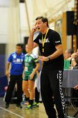 SIOFOK, HUNGARY - SEPTEMBER 14: Vlagyimir Golovin (Siofok trainer) in action at a Hungarian Champion