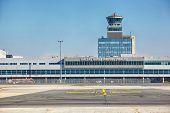 PRAGUE - SEPTEMBER 06: Vaclav Havel Airport Prague on September 06, 2013 in Prague, Czech Republic. Prague Airport is the main air gate to the Czech Republic.
