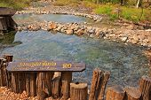 PAI, THAILAND - MARCH 9 : Pong Name Lon Tha Pai Hot Springs on  March 9, 2012 in the Huai Nam Dang N