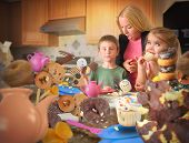 Junk Food Snack Kids Getting Caught By Mom