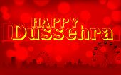 illustration of Happy Dussehra background on mela backdrop