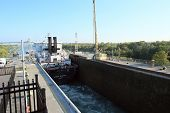 WELLAND CANAL-SEPT. 19:The Algoma Enterprise travels through Lock 3 of the Welland Canal on route fr