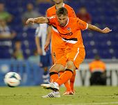 BARCELONA - AUG, 24: Sergio Canales of Valencia CF in action during a Spanish League match against R