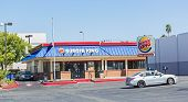 Sacramento, Usa - September 19: Burger King Location On September 19, 2013 In Sacramento, California