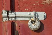 Weathered lock and bolt