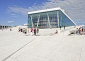 OSLO, NORWAY - JULY 09. The Opera House in Oslo City on July 09, 2010 in Oslo, Norway.