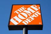 JACKSONVILLE, FL-MARCH 8, 2014: A Home Depot sign in Jacksonville. The Home Depot is the largest home improvement retailer in the United States, ahead of rival Lowe's.