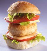 burger in homemade bread
