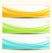 set of three abstract banners. eps 10