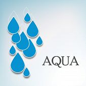 World Water Day concept with blue water drops on grey background, can be use as flyer, banner or pos