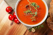 Delicious Tomato Soup with Bread