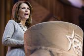 NATIONAL HARBOR, MD - MARCH 8, 2014: Congresswoman Michele Bachmann (R-MN) speaks at the Conservativ