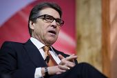 NATIONAL HARBOR, MD - MARCH 7, 2014: Governor Rick Perry (R-TX) speaks at the Conservative Political Action Conference (CPAC).