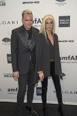NEW YORK-FEB 5: Designers David Blond (L) and Phillipe Blond attend the 2014 amfAR New York Gala at