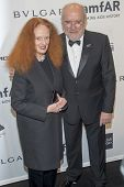 NEW YORK-FEB 5: Creative Director Vogue magazine Grace Coddington (L) and photographer Peter Lindber