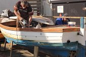 Repairing a small boat