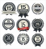 Premium quality retro design badges and labels