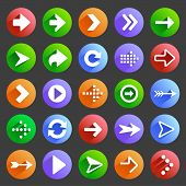 Flat arrow icons