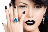 stock photo of nail paint  - Portrait of glamour woman - JPG