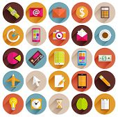 Set of Flat Style Icons. Business, Technology, Mobile Phones and Tablet PC, Infographic and Payments