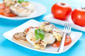 picture of mahi  - fresh slice of hake baked with vegetables - JPG