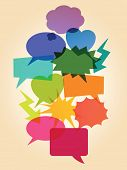 Set of colorful dialog bubbles