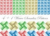 5 In 1 Weave Seamless Pattern