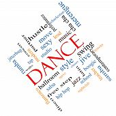 Dance Word Cloud Concept Angled