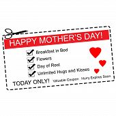 Happy Mother's Day Coupon Concept