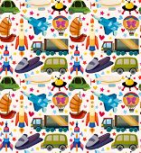 transport pattern background