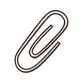 Paper clip symbol.
