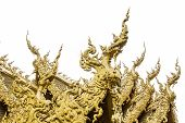 Golden Chapel In Wat Rong Khun , Thailand White Temple Chiang Rai Province