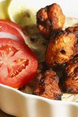 Afghan Chicken Kebab - A Chicken Dish Made From Grilled Chicken And Spices