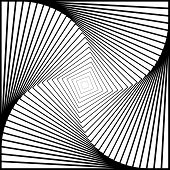stock photo of quadrangles  - Design monochrome twirl movement illusion background - JPG