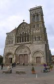 Romanesque Vezelay Abbey or Basilica of St. Mary Magdalene in Vezelay, France