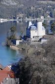 picture of annecy  - Large view of Annecy blue lake from Duingt and its castle Savoy France - JPG