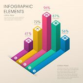 Abstract Bar Chart Infographics