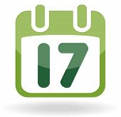 Calendar with date