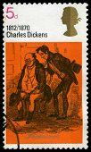 Charles Dickens Uk Postage Stamp