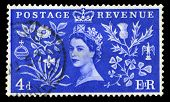 Vintage Postage Stamp Celebrating Queen's Coronation